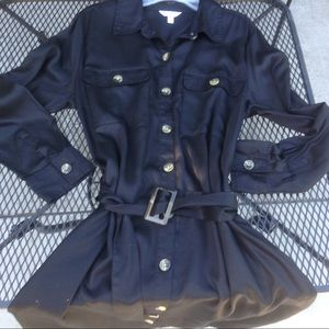 Utility Shirt Dress belt plus size military